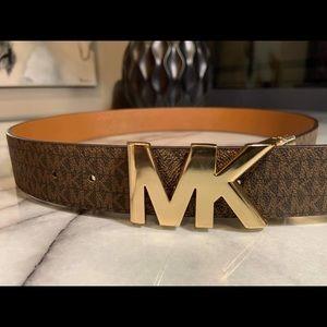 Michael Kors Signature Logo Reversible Belt Brown